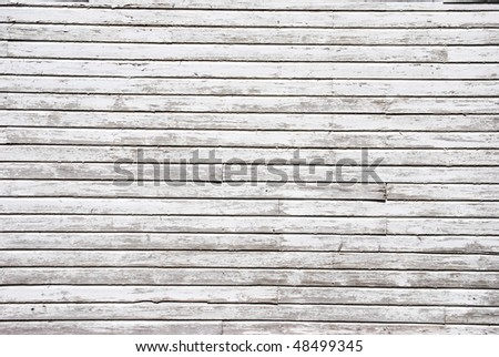A photograph of a weathered wood exterior wall. - stock photo