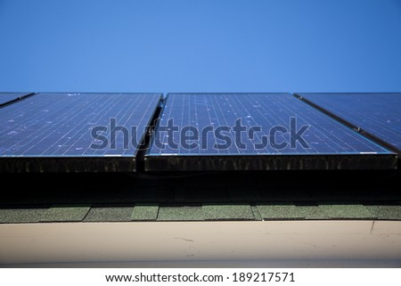 A photograph of solar panels.