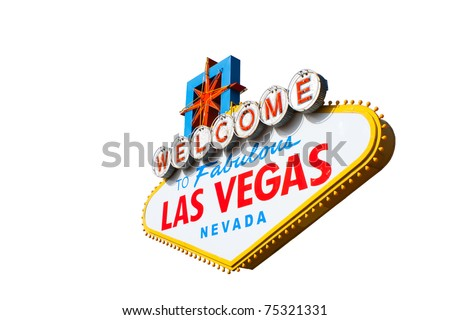 A photograph of the Welcome To Fabulous Las Vegas Nevada Sign - stock photo