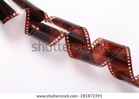 a photographic film negative isolated