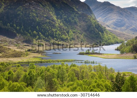 A photography of a great scottish landscape - stock photo