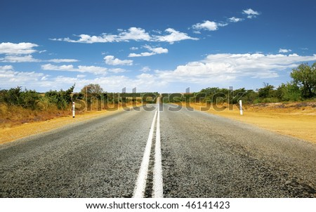 A photography of a road in Australia - stock photo