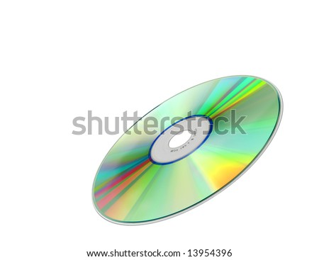 A photography of an isolated cd rom - stock photo