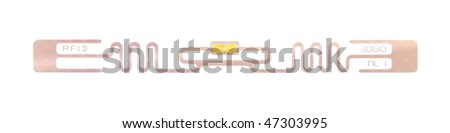 A photography of RFID chip isolated on a white background - stock photo