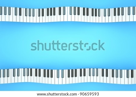 a piano keyboard waves as a creative background