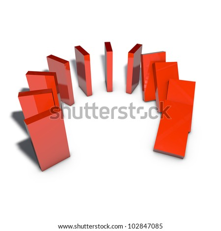 a pictogram to symbolize a progress of simulation - stock photo