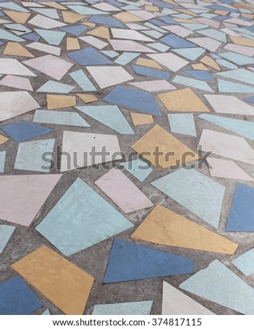 a picture of a colorful mosaic floor