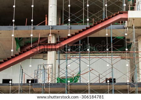 A picture of contemporary buildings under construction. - stock photo