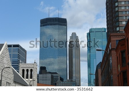 A picture of downtown Minneapolis architecture - stock photo