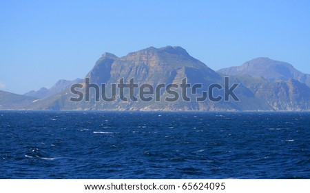A picture of mountainous coast of South Africa - stock photo