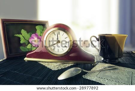 A picture of retro alarm clock - stock photo