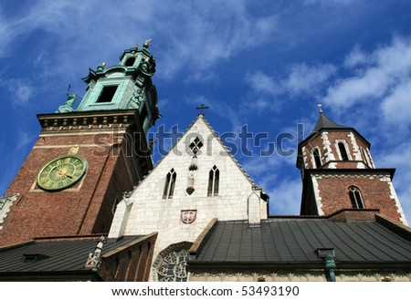 A picture of the Wawel Castle in Krakow, Poland - stock photo