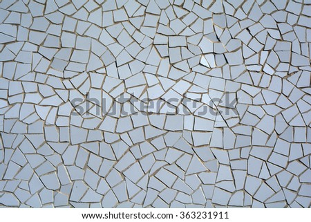 A picture of white mosaic tiles - stock photo