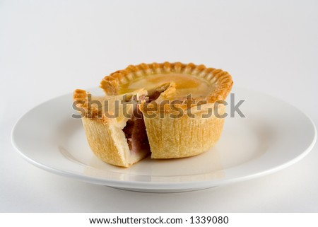 A pie with a segment cut out
