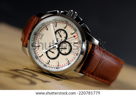 A piece of high-grade men's Watch - stock photo