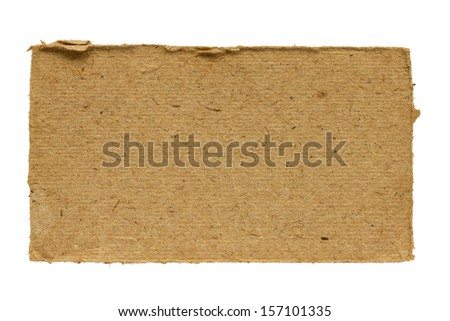 A piece of old cardboard - stock photo