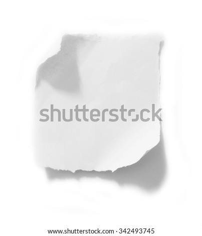 A piece of paper on white - stock photo