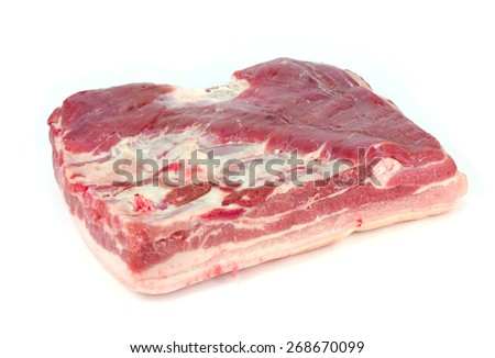 a piece of pork on a white background