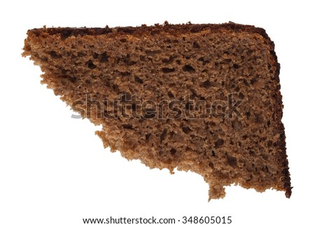 A piece of rye bread