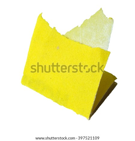 a piece of sandpaper isolated on white