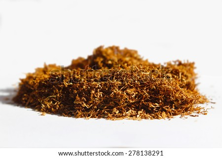 a piece of tobacco isolated on white background