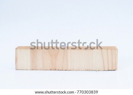 A piece of wood