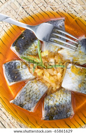 A pieces of herring