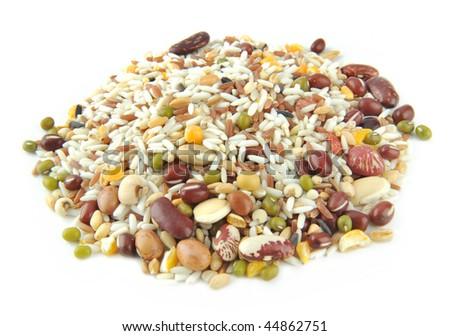A pile Miscellaneous grains - stock photo