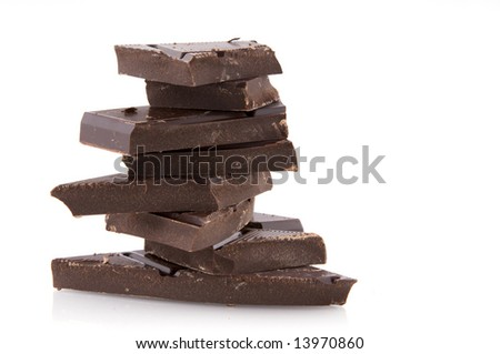 a pile of bitter chocolate