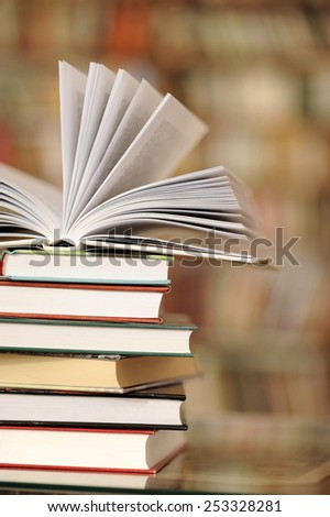 a pile of books - stock photo