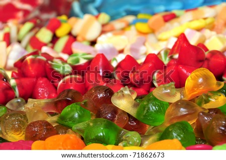 a pile of candies ready to sell - stock photo
