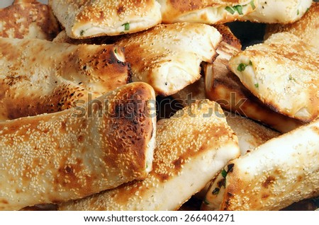 A pile of clay oven rolls - stock photo