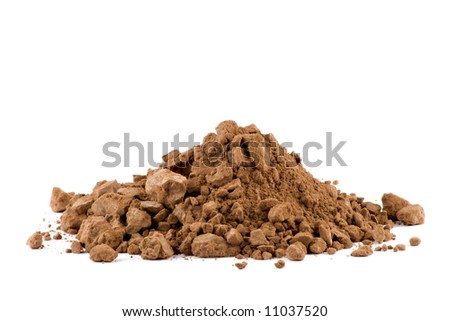 A pile of Cocoa powder isolated on white background - stock photo