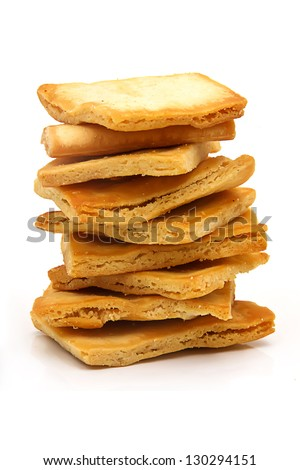 A pile of crunchy pita chips