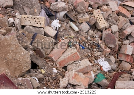 A pile of debris - stock photo