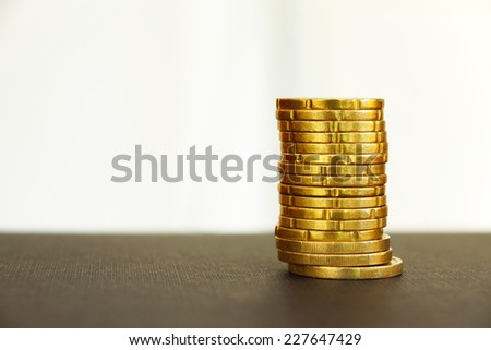 A pile of european coins - stock photo