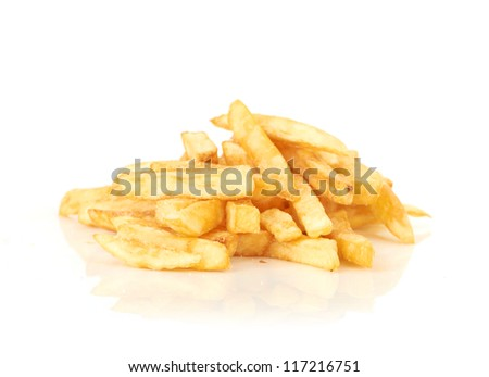 a pile of french fries - stock photo