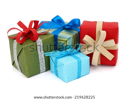 A pile of gift boxes, holiday presents