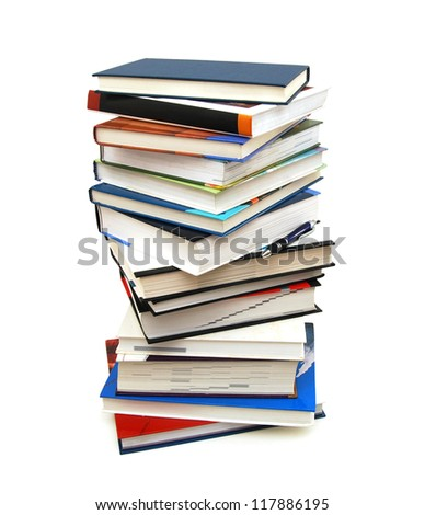 A pile of learning in class or back to school - stock photo