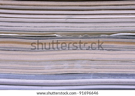 a pile of magazines, ideal for background - stock photo