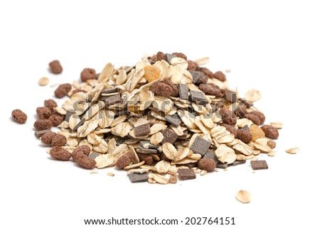a pile of morning cereal (muesli)