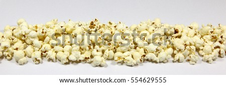 A pile of popcorn