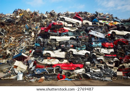 a pile of used cars
