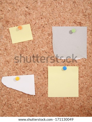 a pinboard with thumtacks on it