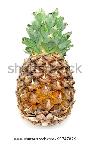 a pineapple isolated on a white background