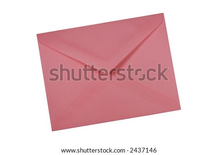 A pink envelope. - stock photo