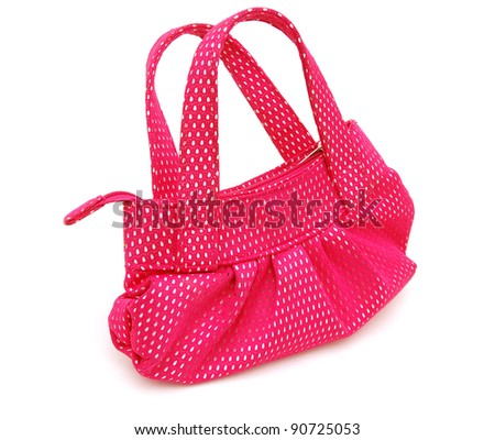 A pink handbag on go out - stock photo