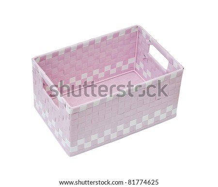 A pink open empty box isolated on white