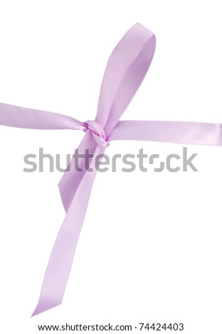 A pink ribbon bow decor