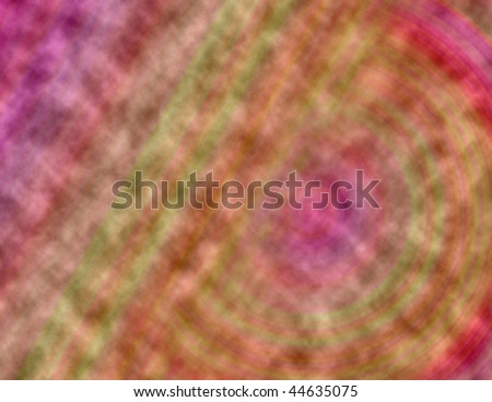 A pink tie dyed fabric with stripes and curves - stock photo